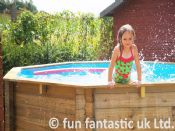 10ft x 36in Wooden Fun Octagonal Swimming Pool